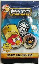 Angry Birds Star Wars 2D Dog Tag Fun Pack Brand New Sealed Pack