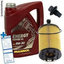 5L Mannol Energy 5W-30 Öl Motoröl + Filter + Schraube für Audi A3 8P / Golf 4 5