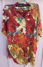 womens Linen/vicose short set fall colors made in France shorts size 38FR 8 USA