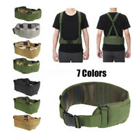 Tactical Molle Combat Waist Padded Modular Belt Battle with H-shaped Suspender