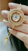 Watch Crystal Quartz Gold Plated Sterling Stone American Diamond Love Gift Lady
