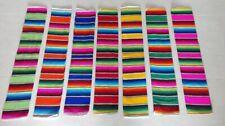 """Mexican Table Striped Runner Corredor De Mesa Serape 11""""x 80"""" Boda Fiesta Party"""