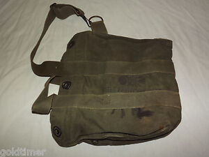 VINTAGE US ARMY FIELD PROTECTIVE MASK CARRIER BAG