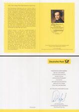Klappkarte 12.2.09 Felix Mendelssohn Bartholdy (MiNr.2720)