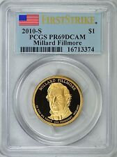 2010-S PRESIDENT MILLARD FILLMORE PROOF $1 FIRST STRIKE PCGS PR69DCAM