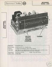 Browning Model L-300 Tuner-Sams PhotoFact Tech Docs