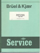 Bruel & Kjaer VariousService Manuals see description for availability Types