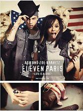 PUBLICITE  ADVERTISING 2011  ELEVEN PARIS  ASH & JOE KRAVITZ  LIFE IS A JOKE
