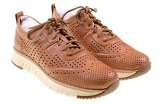 NEW Cole Haan ZeroGrand Natural Vachetta Leather Perforated Sneakers Shoes 11