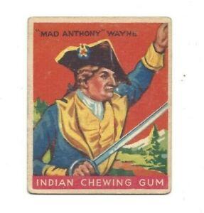 1933 Goudey - Indian Chewing Gum - Mad Anthony Wayne (#58) - EX