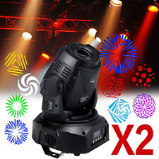 2x 60W LED Stage Moving Head DMX Gobo Spot Lyre à lumière éclairage DJ KTV disco