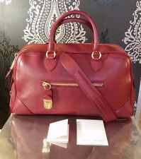 MARC JACOBS COLLECTION Venetia Satchel Shoulder Handbag Cherry Red Leather Gold