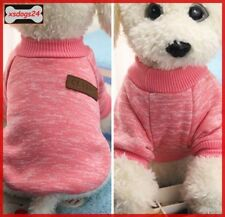 Schicker Hundepullover Mantel Overall Welpe Chihuahua Rosa XS-S-M-L
