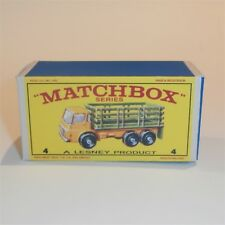 Matchbox Lesney  4 d Dodge Stake Truck empty Repro E style Box