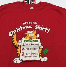 Vintage 1983 Official Christmas CAT T-Shirt Size M/L 80's 50/50 Soft/THIN