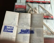 Toys & Joys Wooden Materials Package Lot Blueprints Trains Caboose LOCO Coach
