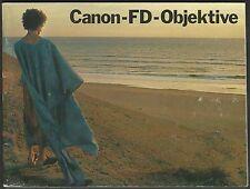 Canon-FD-Objektive - Deutsche Ausgabe - manual german