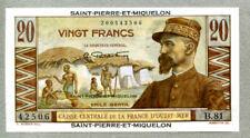 Saint-Pierre and Miquelon 20 Francs 1950 Crisp Uncirculated Pick 24