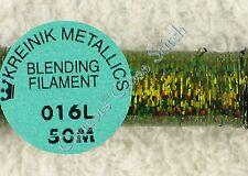 Kreinik Blending Filament 016L Olive Moss Holographic Metallic Thread 50M