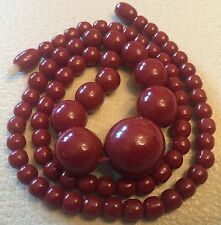 "BAKELIT KETTE BAKELITE CHERRY AMBER NECKLACE 21,81GRAMS ""NO AMBER"" PRAYER BEADS"