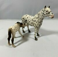 Schleich Mare And Colt Horse Appaloosa Figures RARE RETIRES 2005 & 2006