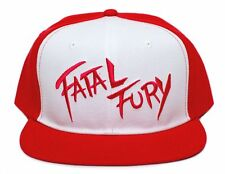 Embroidered Flat brim Fatal Fury Terry Bogard Red Cap Hat Andy King of Fighters