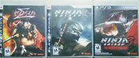 Ninja Gaiden Trilogy PS3- 1st Release Official black label NOT GH's- Sigma 1,2 3