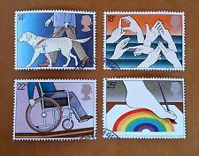 GB QEII COMM. FRANCOBOLLI. 1981 (SG 1147-50) INT. ANNO DEGLI handicappati. Set DA FDC