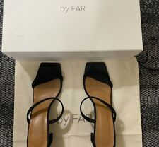 Authentic By far Black Leather Suede Sandals Size 38!!!!