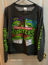 Nickelodeon Teenage Mutant Ninja Turtles Sweatshirt Sweater Size Women's Large
