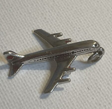 Travel Red Enamel Charm Pendant 3g Genuine Solid 925 Sterling Silver 3D Airplane