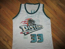 vtg GRANT HILL DETROIT PISTONS 33 JERSEY Basketball White Promo Kids YOUTH