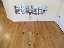 LP Latin Percussion Aspire 13 & 14 Inch Timbales W/ Stand - Mint Condition !
