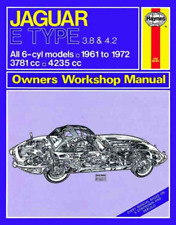 Haynes Workshop Manual Jaguar E Type Roadster Coupe 1961-1972 New Service Repair