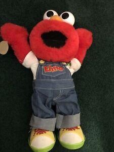 Sesame Street Lets Pretend Elmo Plush Talking Toy Doll Mattel Fisher Price 1999