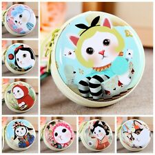 Cute Kids Cartoon Cat Pattern Coin Case Purse Clutch Wallet Round zipper Hangbag