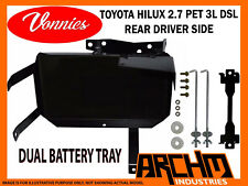 VONNIES TOYOTA HILUX 2.7 DRIVER SIDE REAR DUAL BATTERY TRAY SYSTEM 2000-03/2005