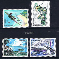 1967 - Papua New Guinea PNG - 25th Ann of South Pacific War - set of 4 - MNH