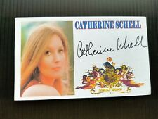 """ON HER MAJESTY'S SECRET SERVICE"" CATHERINE SCHELL AUTOGRAPHED 3X5 INDEX CARD"