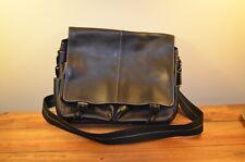 Coach Mens Black Leather Messenger Bag F70104