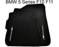 BMW 5 Series F10 F10LCI Black Carpets With Performance Emblem 2010-2016 Tailored