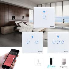1 2 3 Gang Smart Sonoff Touch Switch Wall WiFi RF Light Control UK Plug Panel