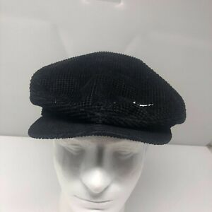 Vintage 90's NIKE Corduroy Swoosh Logo Fitted Golf Newsboy Hat Cap Size Medium