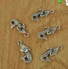 40pcs Tibetan silver Mermaid Pendants Jewelry Findings necklace Pendants  23MM