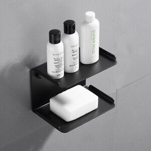 Wall Mounted Soap Sponge Holder Black SUS Soap Dish Bathroom Organizer Storage