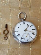 Silver Pocket Watch Antique Verge Fusee