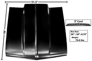 1962-65 Chevy II/Nova Hood w/ 2-Inch Cowl Induction New