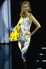 GIANNI VERSACE RUNWAY Spring 1995 Rare Iconic Floral Multicolor Dress Sz S
