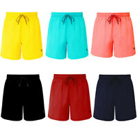 Mens Swim Shorts Plain Mesh Lining Quick Dry Swimming Summer Beach Pool Trunks