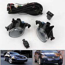 Pair w/Switch Clear Front Bumper Fog Lights Lamp for Nissan 2005-2006 Altima JDM
